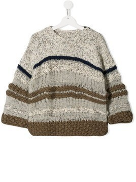 Pero Kids TEEN striped jumper - Neutrals