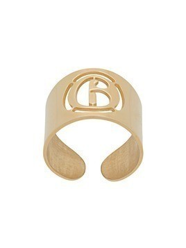 Mm6 Maison Margiela logo open wide ring - Gold