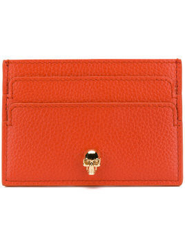 skull cardholder - Yellow & Orange Alexander McQueen as21p