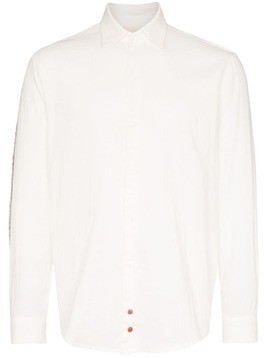 78 Stitches panelled sleeve shirt - White