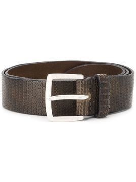 Orciani embossed circle design belt - Brown