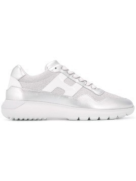 Hogan logo lace-up sneakers - Silver