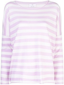 Allude striped long sleeve jumper - Purple
