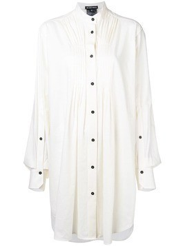 Ann Demeulemeester pleated detailed tunic - White
