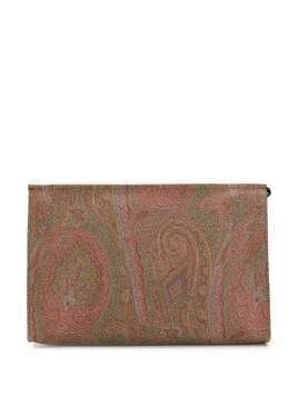 Etro paisley print clutch - Brown