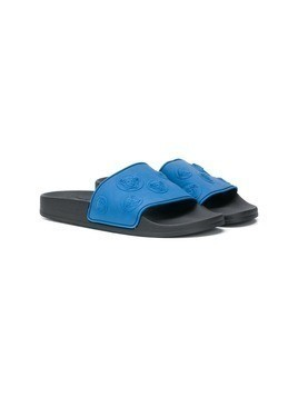 Young Versace TEEN Medusa Head slides - Blue