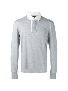 Tom Ford contrast collar polo shirt - Grey