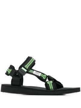 Suicoke double strap sandals - Black