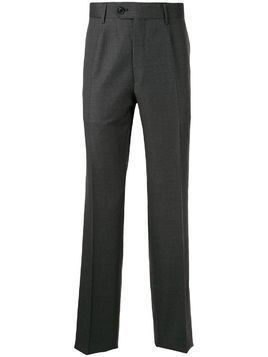 Gieves & Hawkes fine knit straight leg trousers - Grey