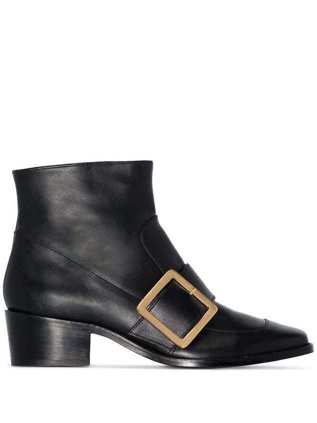 Roker Whickham 35 buckled ankle boots - Black