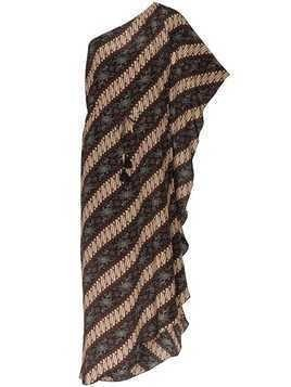 Figue Maisie batik-print striped dress - Javdi