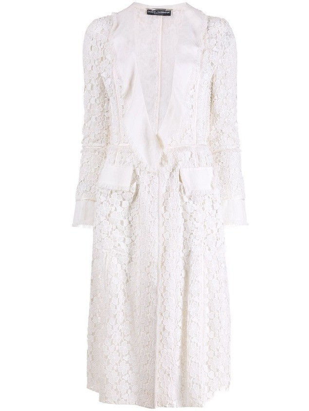 Dolce & Gabbana Pre-Owned 1990's lace jacket - White