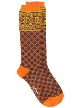 Etro printed ankle socks - Orange