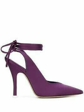The Attico pointed high-heel pumps - PURPLE