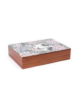 Fornasetti printed box - Brown