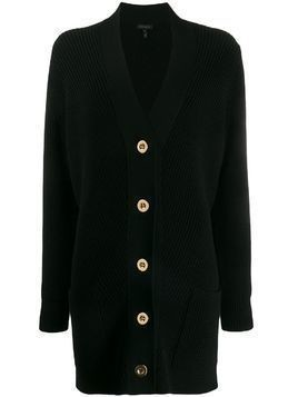 Escada ribbed knit buttoned cardigan - Black