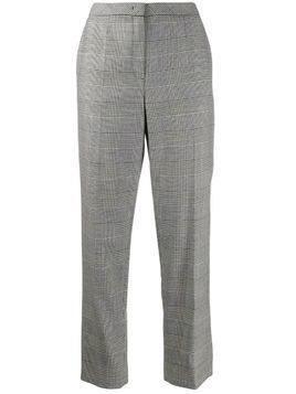 Escada check print cropped trousers - Black