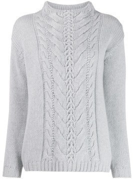 Agnona cable knit jumper - Grey