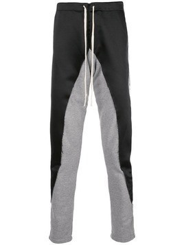 Greg Lauren panelled track pants - Black