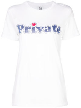 Zoe Karssen private print T-shirt - White
