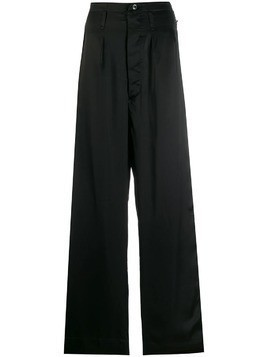 Giacobino wide-leg trousers - Black