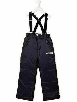 Moschino Kids padded suspender trousers - Blue
