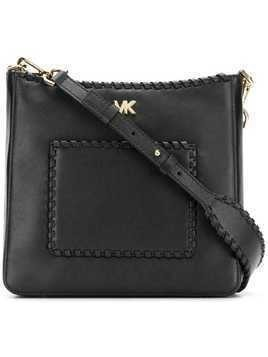 Michael Michael Kors Gloria whipstitched messenger bag - Black
