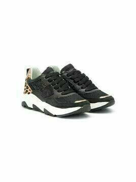 Philippe Model Kids Eze leopard-print panelled sneakers - Black