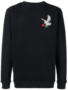 Intoxicated eagle embroidered sweatshirt - Black