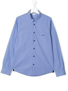 Boss Kids TEEN checked shirt - Blue