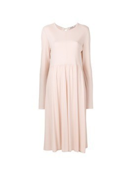 Jil Sander flared dress - Pink&Purple