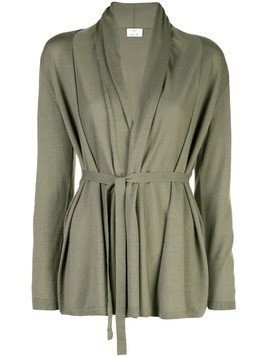 Allude long sleeve open cardigan - Green