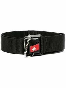 Dsquared2 logo-patch belt - Black