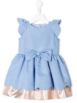 Hucklebones London scalloped bodice dress - Blue