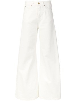 Aspesi flared jeans - White