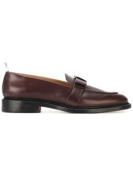 Thom Browne Loafer with Bow in Calf Leather