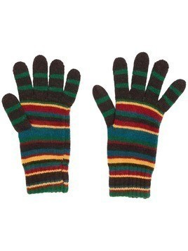Paul Smith striped knit gloves - Brown