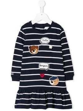 Ralph Lauren Kids striped patch dress and bloomers set - Blue