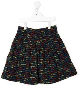 Stella McCartney Kids scribble logo skirt - Black