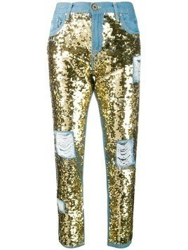 Don't Cry sequin embellished jeans - Blue