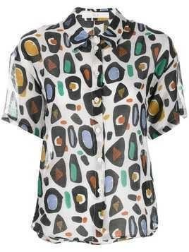 Tela abstract print shirt - Neutrals