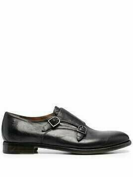 Silvano Sassetti buckle-fastening leather monk shoes - Black