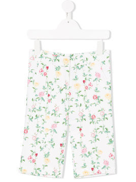 Love Made Love floral print trousers - White