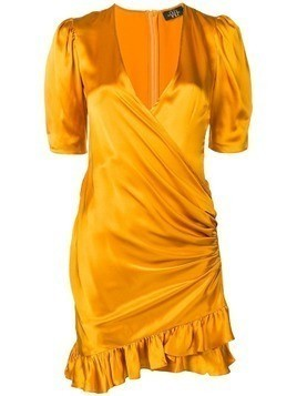 De La Vali wrap mini dress - Orange