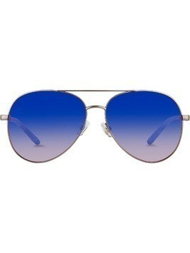 Matthew Williamson aviator frame sunglasses - Silver