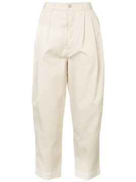 Hed Mayner high rise cropped trousers - Neutrals