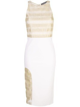 Haney Nadina panelled dress - White