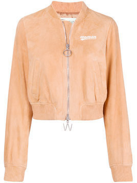Off-White free as a butterfly bomber jacket - Nude & Neutrals