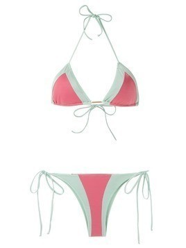Brigitte two-tone bikini set - Multicolour