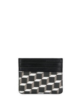Pierre Hardy Perspective Cube-print cardholder - Black